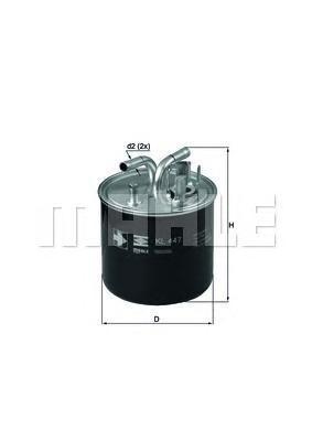 KL447 Фильтр топливный AUDI: A8 03-