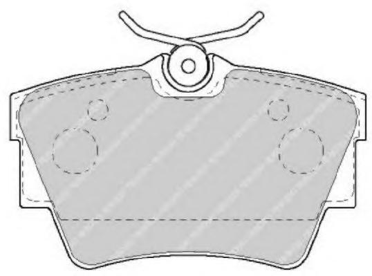 FVR1516 Колодки тормозные NISSAN PRIMASTAR 01-/OPEL VIVARO 01-/RENAULT TRAFIC 01- задние