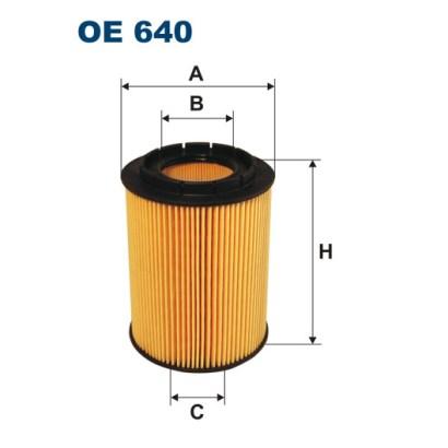 OE640 Фильтр масляный AUDI A6/A8/Q7/VW G3/T5/PASSAT/SHARAN/TOUAREG 2.3-4.2