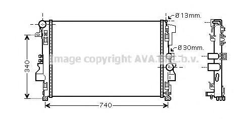 msa2356 Радиатор, охлаждение двигателя