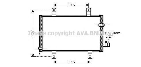 MZ5209 Конденсер MAZDA RX-8 2.6 03-