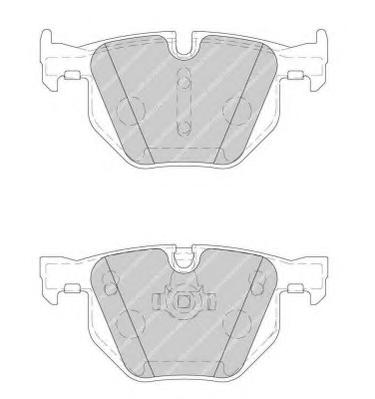 FDB1748 Колодки тормозные BMW E60/E61 задние