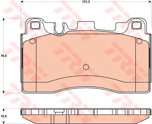 GDB1906 Колодки тормозные MERCEDES C218/W212/C197 63 AMG задние