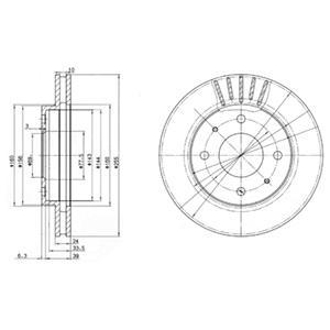 BG2763 Диск тормозной MITSUBISHI GALANT 8804/CARISMA 9506/VOLVO S40 9504 передний