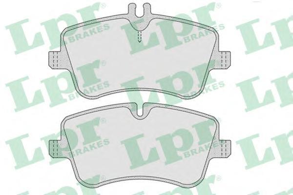 05P767 Колодки тормозные MERCEDES W203/209 00- передние