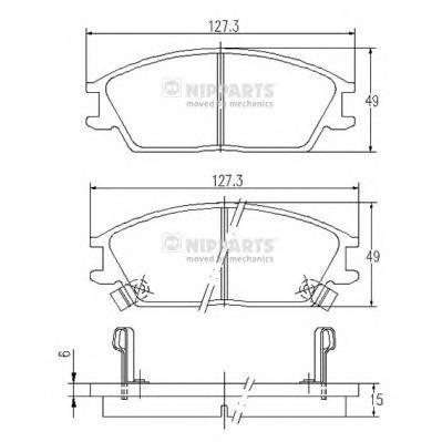 J3600515 Колодки тормозные HYUNDAI ACCENT/GETZ передние