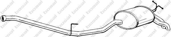 287087 Глушитель MB W210 2.2TD 98-02