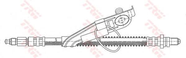 PHC292 Шланг тормозной FORD FIESTA 95-02 передний левый