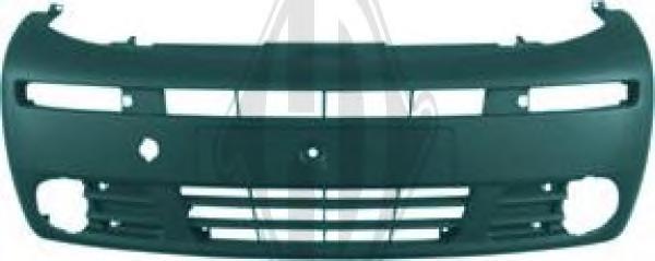 1895051 Бампер передний серый, с отверстиями под ПТФ / OPEL Vivaro 01~06