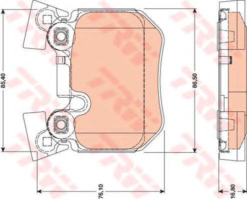 GDB1795 Колодки тормозные BMW E81/E82/E87/E88/E90/E91/E93 спорт.пакет задние