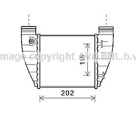 AIA4345 Интеркулер AUDI A4 2.0T 04-08