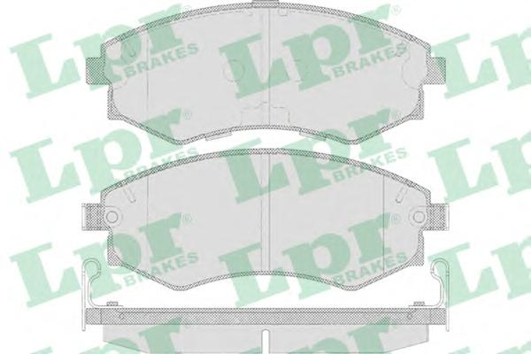 05p640 Комплект тормозных колодок, дисковый тормоз