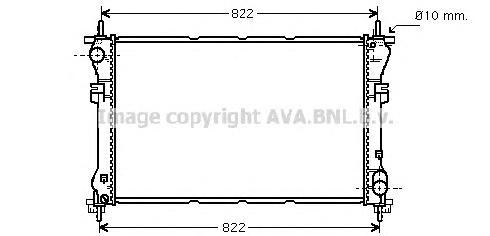 FD2320 Радиатор системы охлаждения FORD: TRANSIT c бортовой платформой/ходовая часть (FM_ _, FN_ _) 2.0 DI (F_E_, F_F_)/2.0 TDCi