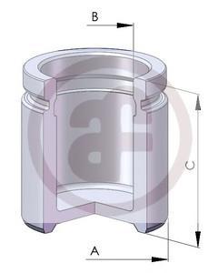 D02559 Поршень торм.cуппорта AUDI A4, A6 95=/ OPEL ASTRA H 04 d.57