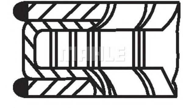 04016N0 Кольца поршневые 1шт CITROEN. PEUGEOT 2.0 16V EW10 =85 1.2x1.5x2.5 std 00