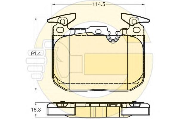 6120315 Колодки тормозные BMW F30/35/80/34/36/33/32/82/83 передние спорт.пакет