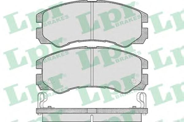 05P565 Колодки тормозные OPEL FRONTERA/MONTEREY 91-98 передние