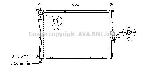 BW2289 Радиатор BMW E83 2.0-3.0/2.0D/3.0D 04-