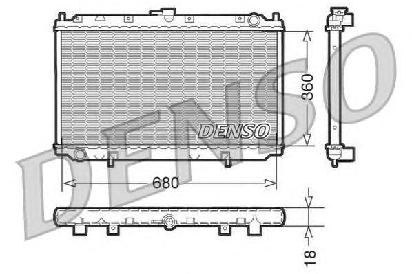 DRM46011 Радиатор системы охлаждения NISSAN: PRIMERA (P11) 1.6 16V/1.8 16V/2.0 16V 96 - 01 , PRIMERA Hatchback (P11) 1.6 16V/2.0