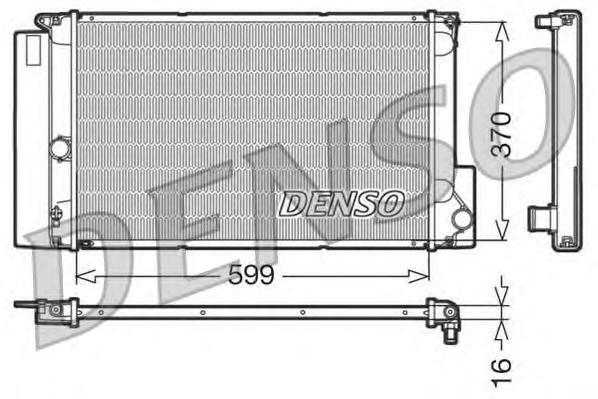 DRM50026 Радиатор системы охлаждения TOYOTA: COROLLA 1.4I 16V / AURIS
