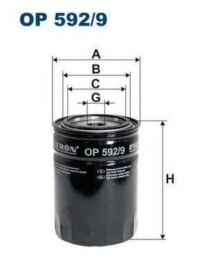 OP5929 Фильтр масляный CITROEN/PEUGEOT/FIAT/IVECO 3.0HDI 06-