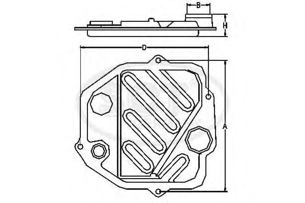 SG1071 Фильтр АКПП Lexus LX470 98-