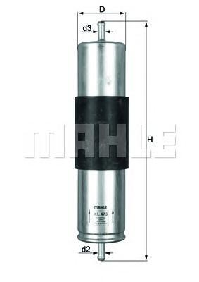 KL473 Фильтр топливный BMW X5 3.0 D