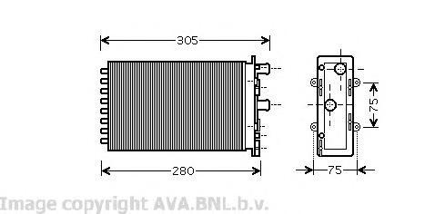 VW6239 Радиатор отопителя VW: TRANSPORTER IV c бортовой платформой/ходовая часть (70XD) 1.9 D/1.9 TD/2.0/2.4 D/2.4 D Syncro/2.5/