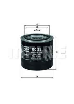 OC23 Фильтр масляный FORD SIERA/TAUNUS/TRANSIT/SCORPIO