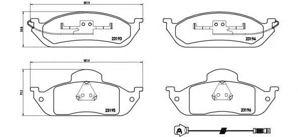 P50039 Колодки тормозные MERCEDES W163 ML230-ML430 передние
