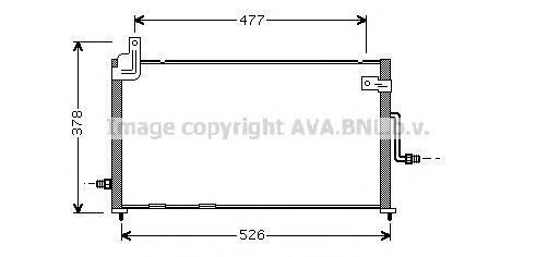 DW5044 Радиатор кондиционера DAEWOO: MATIZ (KLYA) 0.8 98 -