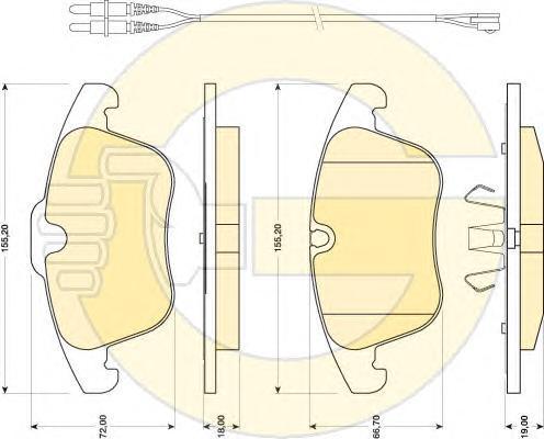 6118182 Колодки тормозные CITROEN C5 1.6-2.0 08- передние