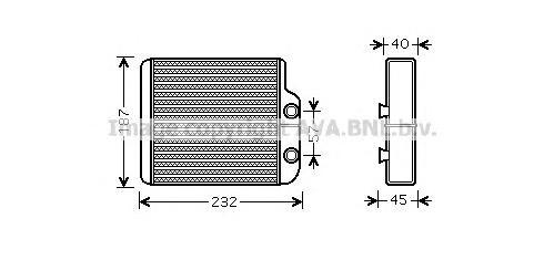 to6368 Радиатор отопителя