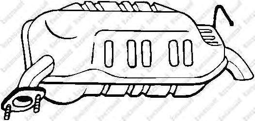 171635 Глушитель MAZDA 6 1.8/2.0/2.0DI 02-