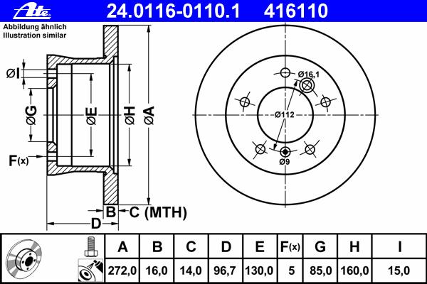 24011601101 Диск тормозной задн, MERCEDES-BENZ: G-CLASS G 270 CDI/G 280 CDI 90-, G-CLASS G 320 CDI/G 350 CDI/G 500 89-, G-CLASS