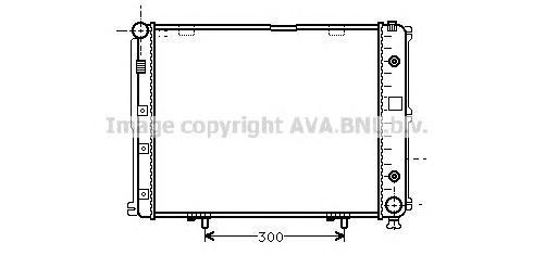 MS2068 Радиатор MB W124 2.0D-3.0D 84-93