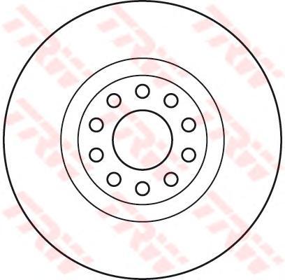 DF6060S Диск тормозной AUDI A6 quattro (1LX) 97-05 передний вент.D=321мм.