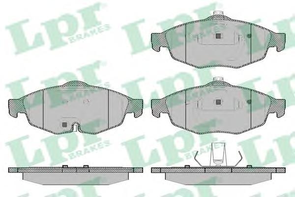 05P1356 Колодки тормозные CHRYSLER SEBRING 2.0-2.7 01- /VOLGA SIBER 08- передние