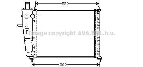 FTA2233 Радиатор FIAT BRAVA 1.6 95-02