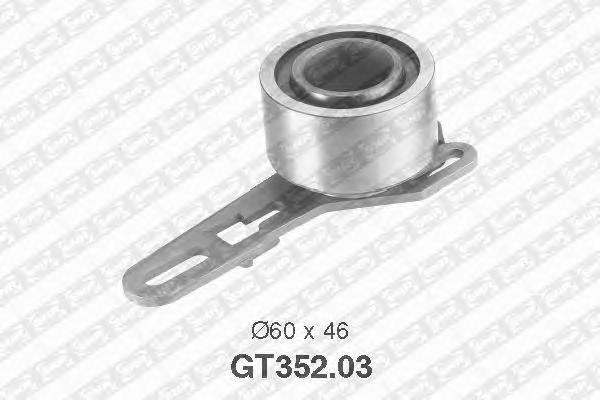 GT35203 Ролик ремня ГРМ FORD TRANSIT 2.5D 83-00