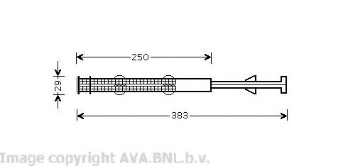 VWD237 Осушитель кондиционера VAG CAYENNE 3.2-4.8T/Q7 3.0-6.0D/TOUAREG 2.5-6.0 02-10