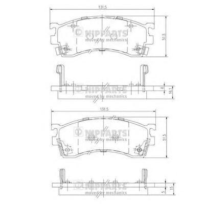 J3603038 Колодки тормозные MAZDA 323/626/PREMACY 92- передние