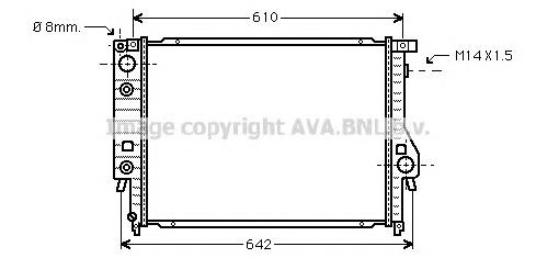 BW2048 Радиатор BMW E30 2.0-3.0 85-97