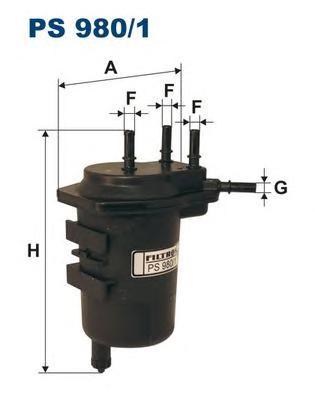 PS9801 Фильтр топливный RENAULT MEGANE II 1.5DCI