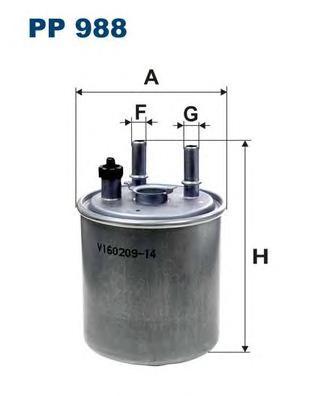 PP988 Фильтр топливный RENAULT KANGOO/LAGUNA 1.5D/2.0D 09-