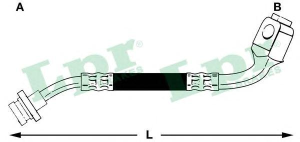 6T46500 Шланг торм M10x1x345 mm пер.лев TERRANO 2