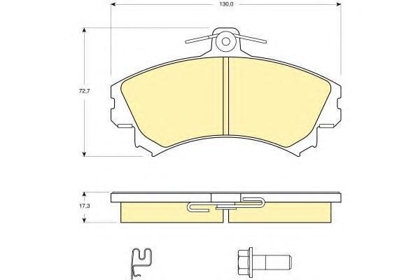 6115841 Колодки тормозные MITSUBISHI CARISMA 9805/COLT 08/VOLVO S40 передние