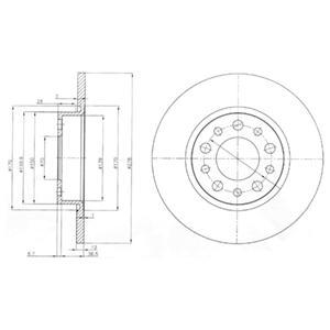 BG3994 Диск тормозной Re ALFA ROMEO 159 05-