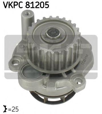 VKPC81205 Насос водяной AUDI A4/A6/VW PASSAT B6/SKODA OCTAVIA 2.0 TFSI 04-