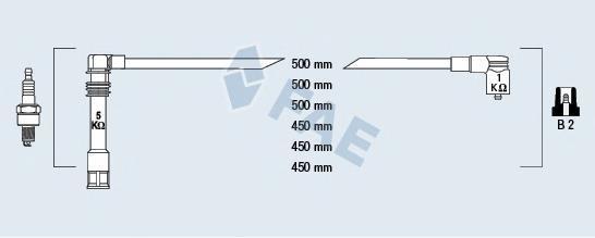 85062 Комплект проводов зажигания